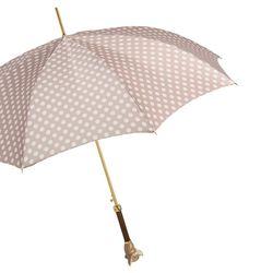 [파소티]우먼럭셔리 아이보리 위드 도트 브라운 치와와 우산