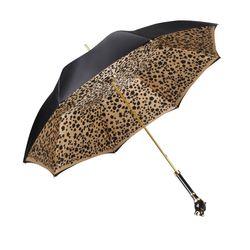 [파소티]우먼럭셔리 더블 클로스 블랙 팬더 핸들 1단 수동 우산