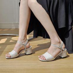 [키데이] 굽높이 조절 가능 샌들 화이트 Pinking sandal wt