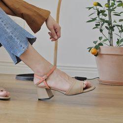 [키데이] 굽높이 조절 가능 샌들 베이지 Pinking sandal bg