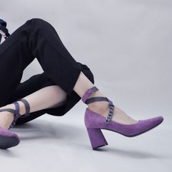 [키데이] 스트랩 펌프스 Twister chain pumps purple