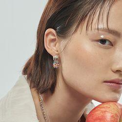 오색떡 구슬 귀걸이_Five colored-tteak earring