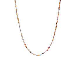 오색 구슬 목걸이_Five colored-tteak necklace