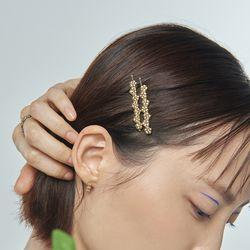 잔치 꽃무리 헤어 클립_Janchi flower hair clip