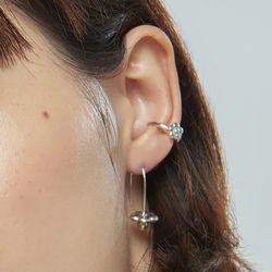 채화 은방울 귀걸이_cheahwa silver ball earring
