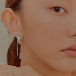 와유자기 커브 A 체인 귀걸이_Wayuzagi curve - a chain earring