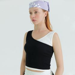 [프라이하잇]UNBAL SLEEVELESS WRINKLE TOP(BLACK)