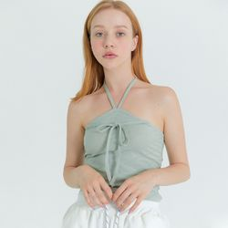 [프라이하잇]HALTER NECK LINE POINT SLEEVELESS(MINT)