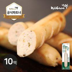 [교촌] 닭가슴살 소시지 (할라피뇨) 70g 10팩