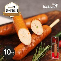 [교촌] 닭가슴살 스모크소시지 (청양고추) 70g 10팩