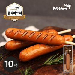 [교촌] 닭가슴살 스모크소시지 (오리지널) 70g 10팩