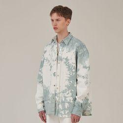 [도미넌트] 도미넌트  타이다이 카펜터 배색 셔츠 민트