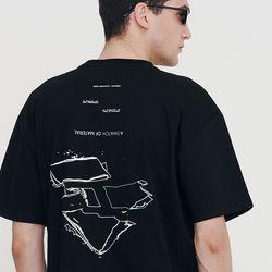 [IRONY PORNO] UNISEX 스와치 피스 반팔티 블랙 IRT031