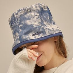 [러브이즈트루] PO TIE DYE BUCKET HAT (BLUE)