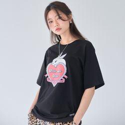 [러브이즈트루] LVG RABBIT T (BLACK) 티셔츠