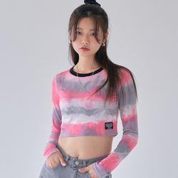 [러브이즈트루] LVG TIE DYE LS T (PINK) 티셔츠