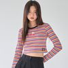 [러브이즈트루] LVG RABBIT STRIPE T (PINK)
