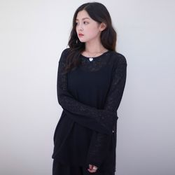 [라티젠]MTOF4 SEETHROUGH TOP (BLACK) 탑