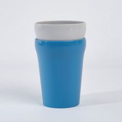 다회용렌지가능 컵 2P세트 블루그레이