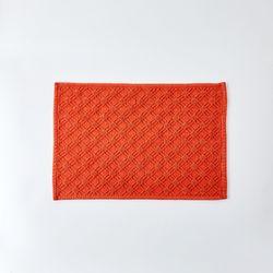 패턴자가드 면매트 65X45레드오렌지