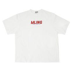[믈링]NEW WAVE 1/2 T SHIRT (WHITE) 티셔츠