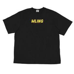[믈링]NEW WAVE 1/2 T SHIRT (BLACK) 티셔츠