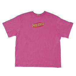 [믈링]MLDONALD 1/2 T SHIRT (PINK) 티셔츠