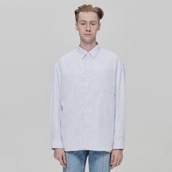 [데드엔드]화이트스트라이프오버셔츠