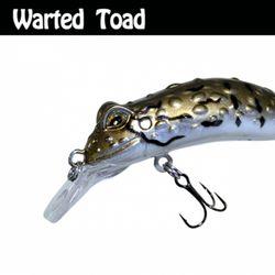 민물 루어낚시 루어웜 가짜 공갈 미끼 Warted Toad 55