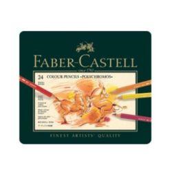 파버카스텔 전문 유성색연필(24색-틴케이스-110024) M