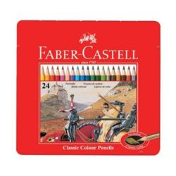 파버카스텔 일반 유성색연필 (24색-틴케이스-115845)