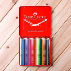 24색 수채색연필 1p 붓 세트 틴20x18.5cm 독일 카스텔