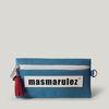 [마스마룰즈] 가죽 라벨포인트 펜슬케이스 필통 - Blue