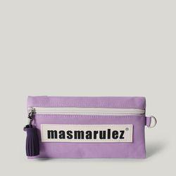 [마스마룰즈] 가죽 라벨포인트 펜슬케이스 필통  Purple