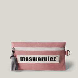 [마스마룰즈] 가죽 라벨포인트 펜슬케이스 필통  Pink