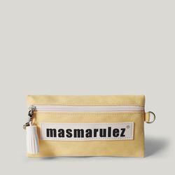 [마스마룰즈] 가죽 라벨포인트 펜슬케이스 필통  Light yellow