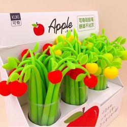 귀여운 과일 사과 펜 디자인 볼펜