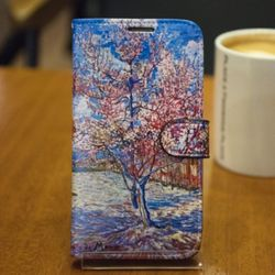 [Zenith Craft] 아이폰 시리즈 고흐 꽃 핀 복숭아나무 다이어리
