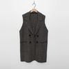 Alpaca Herringbone Knit Vest