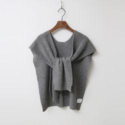 Cashmere Wool Button Shawl