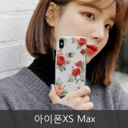 와프 아이폰XS Max WLV 플라워 투명젤리케이스