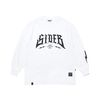 SIDE B OVERSIZED LONG SLEEVES T-SHIRTS WHITE
