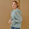 PUFF SLEEVES BLOUSE(MINT)