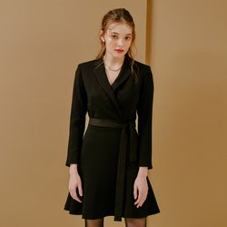 TAILORED FLARE ONEPIECE(BLACK)