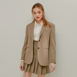 BASIC TWO BUTTON JACKET(CHECK)