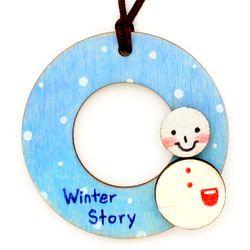 크리스마스 목걸이 만들기-눈사람