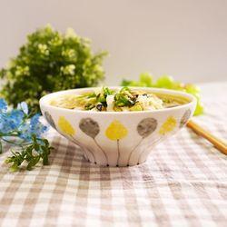 풍선꽃 면기 그릇 우동기