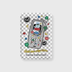 kkikki retro cell phone-gray(무선충전보조배터리)