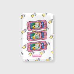 kkikki happy ticket-white(무선충전보조배터리)
