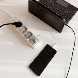 부엉이클릭탭 USB Q2 3구 1.5M (그레이)